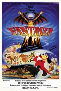 Fantasia 1940 Mickey Mouse Walt Disney Cartoon Movie Poster Print 2 Ebay