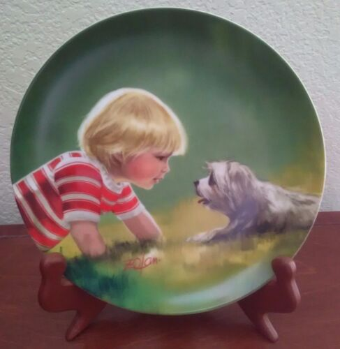 """ Making Friends "" Zolan Collector Plate"
