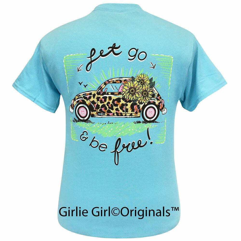 Girlie Girl Originals Tees Leopard Volkswagen Sky Blue Short Sleeve T-Shirt - 2261