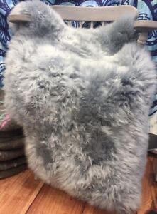 Image Is Loading Genuine Silver Platinum Grey Sheepskin Rug Large Eco