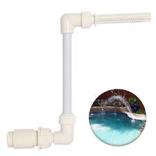 Einstellbarer Pool Wasserfall Brunnen Kit Spay Wasserspiel Wassersprühgerät DE