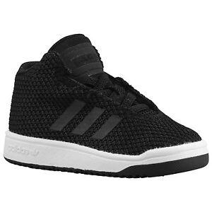 Détails sur Adidas Veritas mi I Tout Petit Chaussures 4C 4 Noir Blanc Classique
