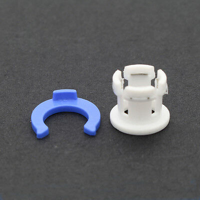 5 Sets White Bowden Tube Clamp Clip Tube Coupling Collet Blue For 6mm 3D Printer