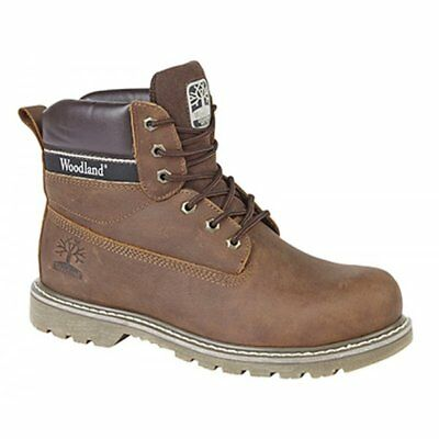 Woodland REDMOND Mens Smooth Genuine Leather Lace Up Casual Boots Brown