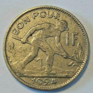 Bon-pour-1-franc-1924-LUXEMBOURG-1-FRANC