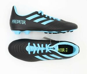 Adidas-Predator-19-4-Soccer-Shoes-Cleats-Black-Blue-Mens-Size-6-G25823