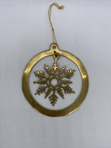 Vtg Brass Snowflake Ornament