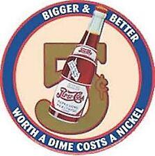 Pepsi Cola 5c Größer Besser Runden Metallschild (41) REDUZIERT LÖSCHEN -------