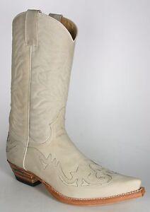 Sendra Cowboystiefel Off White Usado Negro H Rahmengen hte Lederstiefel