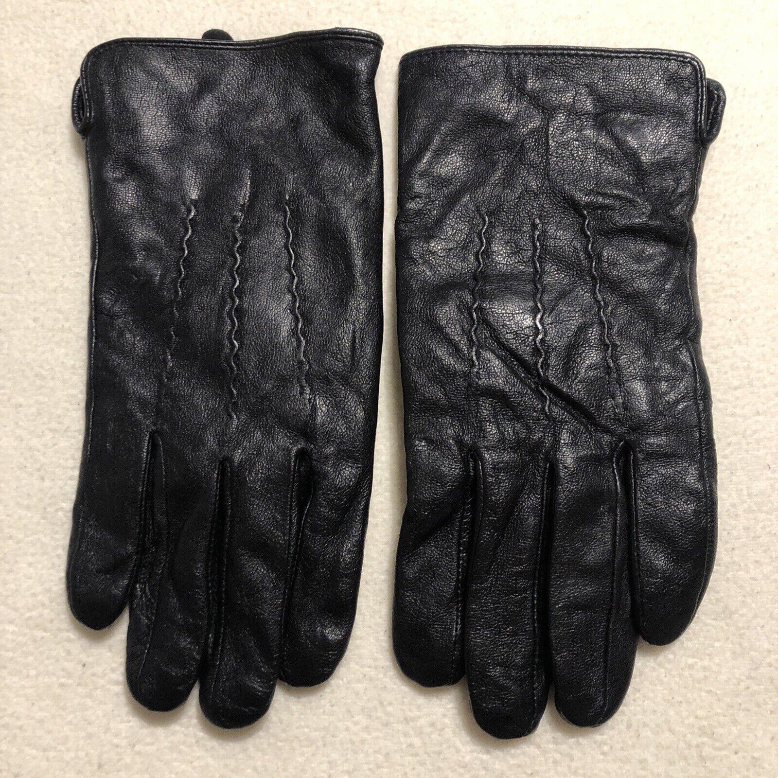 Birreti Black Leather Gloves. Mens Size 11.5