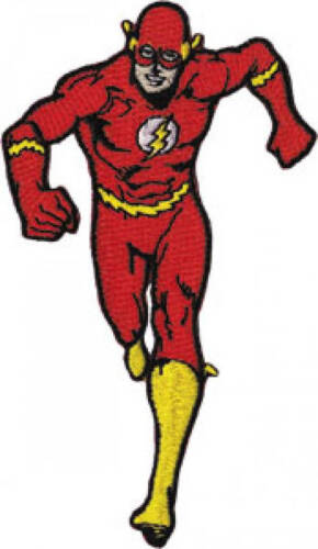 Iron On Applique DC Comics Superhero The Flash Running Embroidered Patch