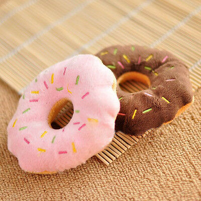 New Sound Chews Toy Cotton Wool Donut Squeaky Squeaker For Puppy Dog Pet Cat