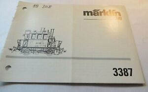 Anletung For Märklin 3387 Glass Box Bedienungs- And Maintenance Manual