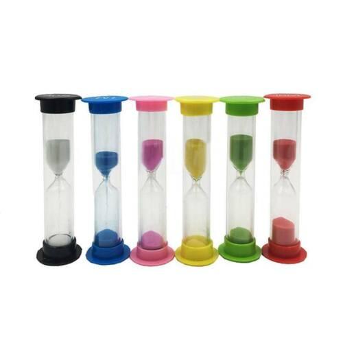 6 Colors Plastic Classroom Game Sand Clock Timer Hourglass Sandglass Home Decor