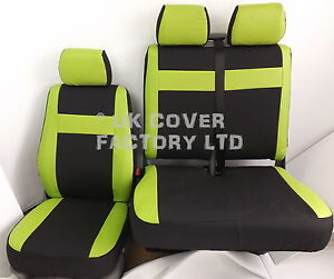 Green Inserts X52g Covers Van Pvc Lime Upto Vivaro Leather 2014 Seat Vauxhall f0aHnC