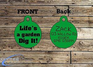 A jardin creuser il personnalisés Pet charme ID de la balise Funny Pet Tags Dog Cat ID de la vie-afficher le titre d`origine pB9l6tZh-07224724-895633531