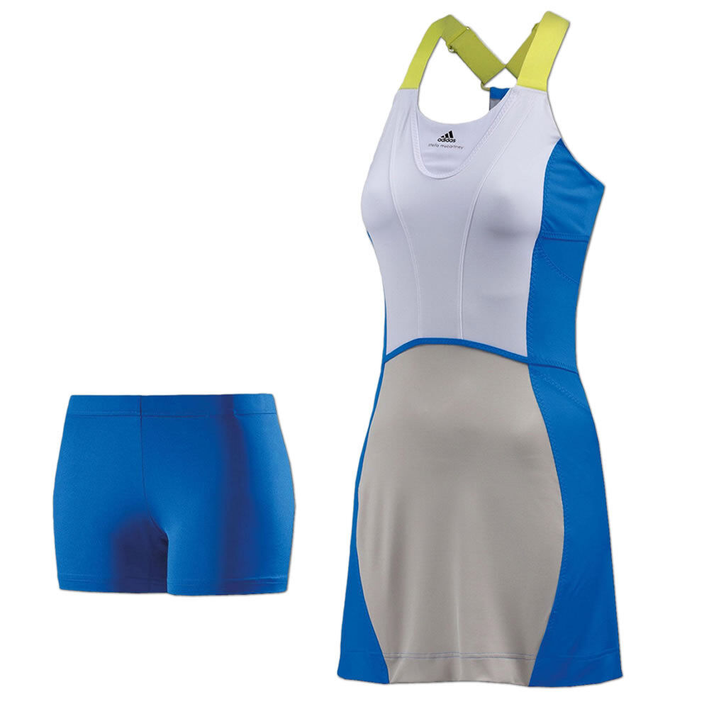 Adidas Adidas Adidas Climalite Tenniskleid Barricade Tennis Dress Kleid mit BH und Tights blau d89f12