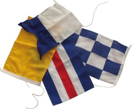 Osculati Signalflagge Flagge Flaggensignal A C N Q Alpha Charlie November Quebec