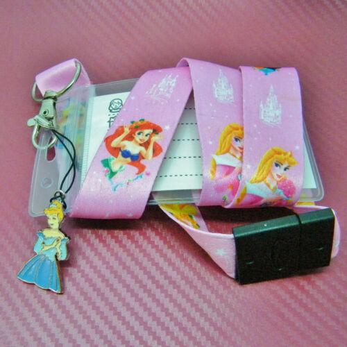 Disney Princess Character Cinderella Safety Lanyard Neck Strap ID Holder