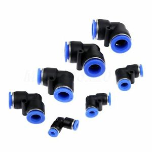 """5 pcs 4 mm Tube Push in Fitting to 1//4/"""" BSPT Female Air Pneumatic Connector"""