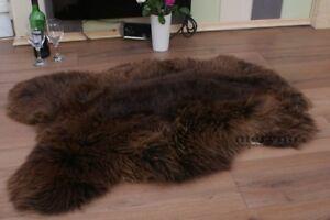 Brown Sheepskin Rug Genuine A Grade