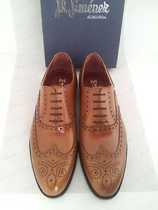 Chaussures-Homme-Habillees-Brogues-TOUT-CUIR-Semelle-in-Cuir-Noir-Marron-ESPAGNE