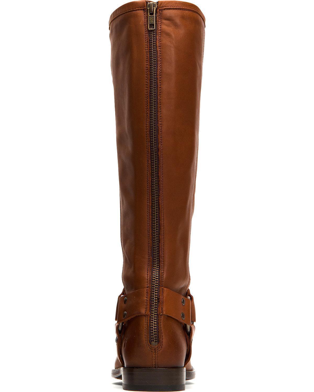Frye Women's Cognac Phillip Harness Tall Boot - Round Round Round Toe - 76505-COG fa49f1