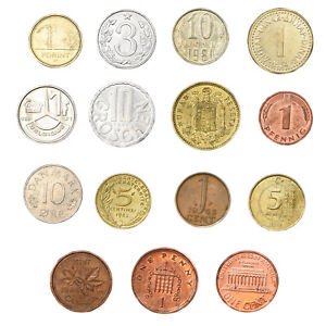 SET-OF-15-COINS-FROM-15-DIFFERENT-COUNTRIES-COINS-LOT