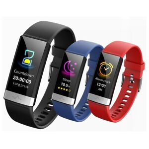 V19 Waterproof IP68 ECG PPG Blood Pressure Oxygen Monitor Smart Watch Bracelet