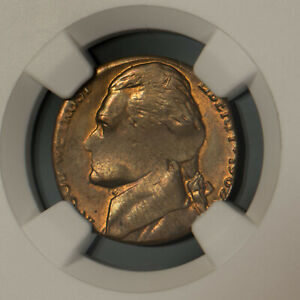 MINT ERROR: JEFFERSON NICKEL STRUCK on LINCOLN CENT BLANK ** NGC MS 64 BN #R955