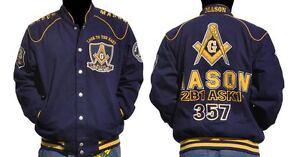Details about Freemason Jacket Masonic Blue Gold Long sleeve Jacket  Worldwide Brotherhood