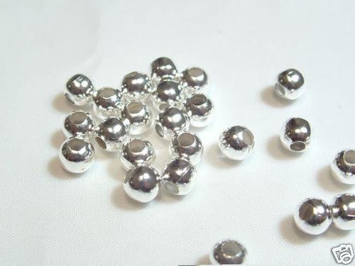 tour de cou perles 20 x 8 mm Plaqué Argent Métal Espaceur