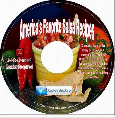 America's Favorite Salsa Recipes CookBook CD