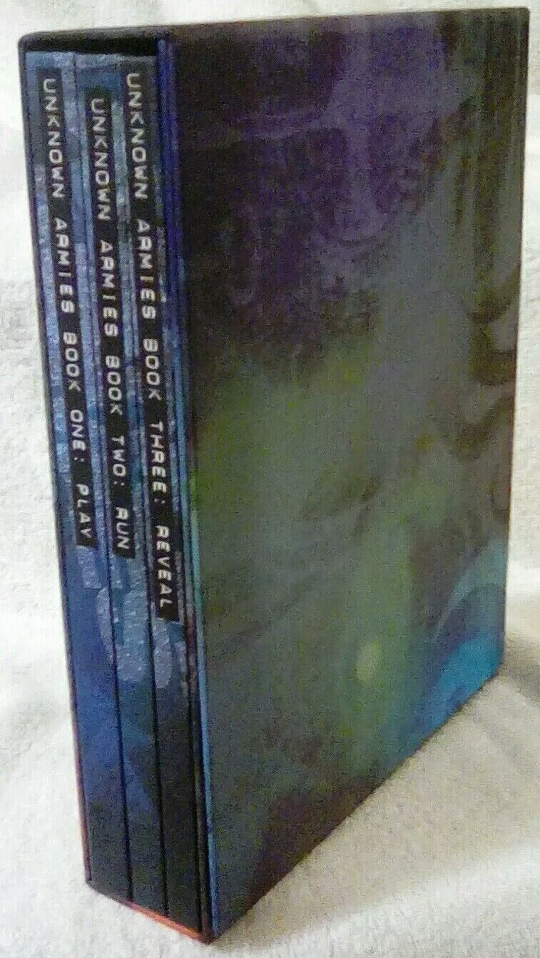Unknown Armies  Slipcased set of Three Books  Play, Run, and Reveal