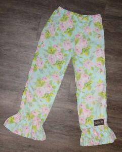 Matilda Jane Rose is a Rose Big Ruffle Pink White Leggings Pants Size 6 New