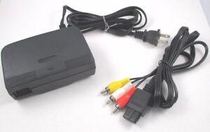AC-Adapter-Power-Supply-amp-AV-Cable-Cord-Nintendo-64-Brand-New-N64-Bundle-Lot