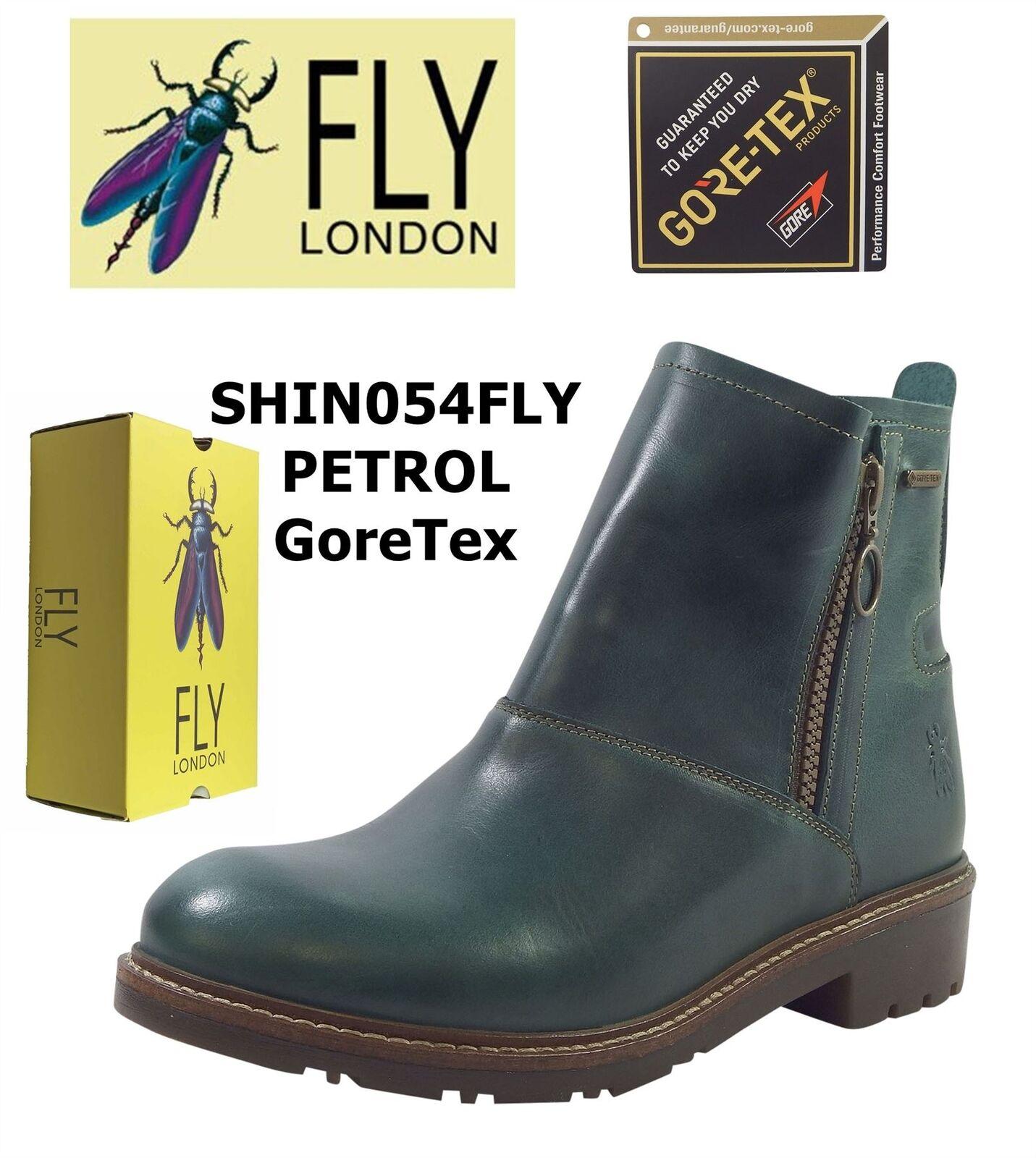 Fly London SHIN054FLY PETROL Rug Leather Goretex Waterproof Stiefel