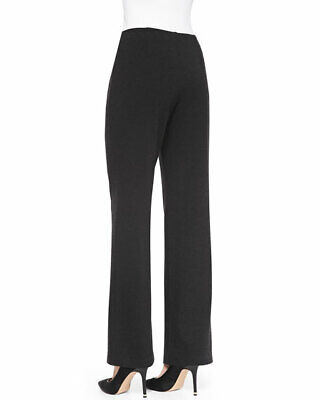 NEW EILEEN FISHER Black Elastic Waist Slim Ponte Pants L
