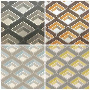 Retro Glitter Wallpaper 3d Geometric Vintage Bold Metallic Orange