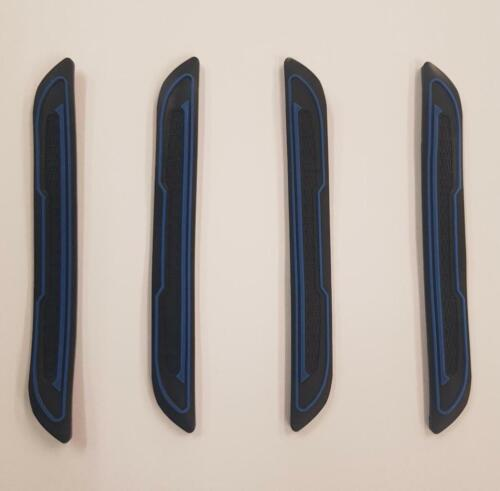 4 x Black Rubber Door Boot Guard Protectors BLUE Insert DG5 fits RENAULT