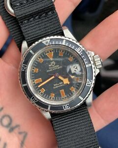 Rolex-Tudor-7021-Blue-Snowflake-Submariner-Diver-Wrist-Watch-Original-Condition