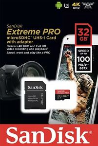 Sandisk-A1-32GB-Extreme-PRO-micro-SD-HC-Card-Adapter-100MB-s-V30-UHS-I-U3