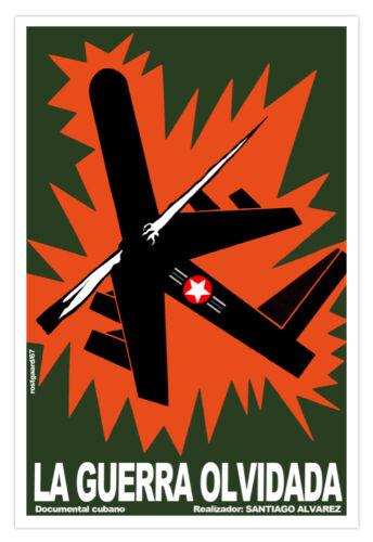 "Cuban movie Poster 4 film/""FORGOTTEN War/""Vietnam art.Political Graphics.History"