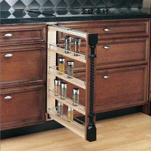 Image Is Loading 4 Shelf Pull Out Storage Organizer Cabinet Base