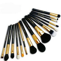15Pcs Professional Make up Brush Set Foundation Blusher Kabuki Brushes Set Kit