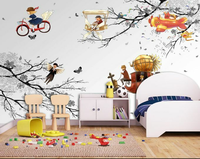 3D Plain Tree Branch Car Paper Wall Print Decal Wall Wall Murals AJ WALLPAPER GB