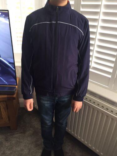 John Lewis Sport Football PE Zip Trackie Top Jacket Navy Brand New RRP £20