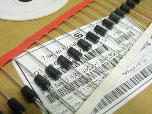 100 x 1.5KE33CA 33v bi-directional transient voltage suppressor diode TVS 1500W
