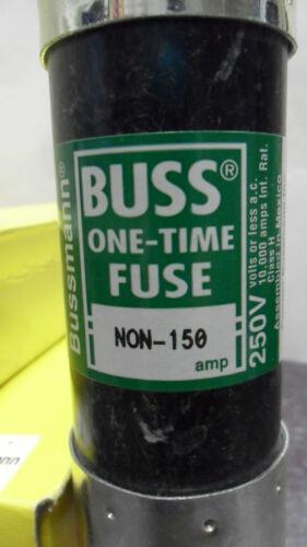 NEW BUSSMANN NON-150 AMP FUSE ONE TIME FUSE 250 VOLT NIB
