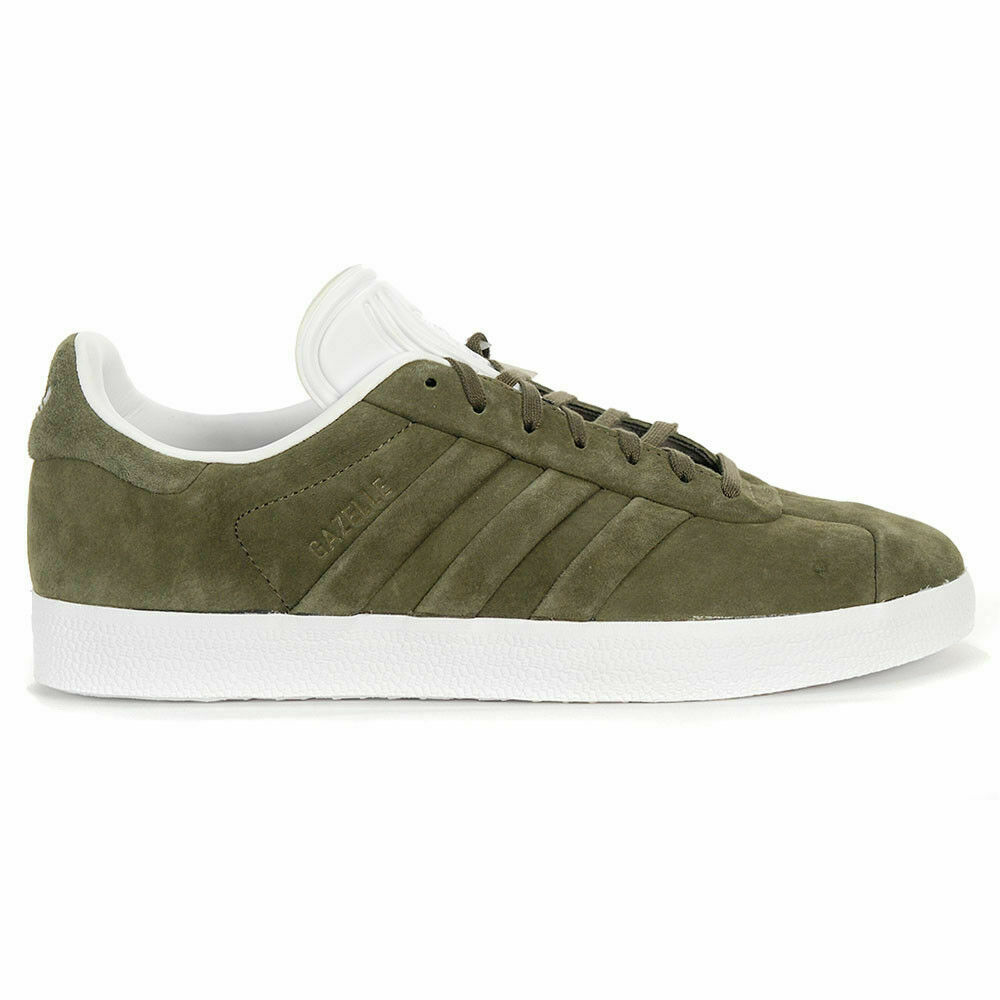 ADIDAS ORIGINALS GAZELLE STITCH AND TURN LUXE CQ2359 OLIVE BRANCH GREEN 9.5 10
